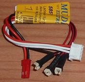 Laadkabel 15cm voor 3x MCPX 1S Accu met BEC en XH bus 58571 Envelop