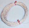 PVC Litze 1-aderig zeer dun-soepel 0,055mm2  Wit 10M 51425  Envelop