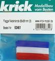 Krick 63461 Vlag nederland 25x38mm 2 stuks Envelop