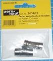 Aandrijf koppeling met veer-as 3,17/4mm VE2 stuks  7034/21 Envelop