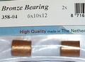 Raboesch Bronzen lagers 10x6 L=12,  2stuks  R358-04