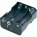 Batterijhouder D clip 6x mignon AA cellen nr. 58710