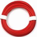 PVC Litze 1-aderig dun-soepel 0,08mm2  ROOD 10M nr.51430 Envelop