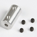 Graupner SZ1018.6 ALU askoppeling asmaat 3,2x3mm Envelop