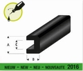 Raboesch 104-52 Rubber bump profile vierkant 6x4mm  L 2mtr Envelop