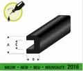 Raboesch 104-50 Rubber bump profile vierkant 2x2mm  L 2mtr Envelop
