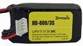 D-Power Lipo 3-800mAh  3S 30C XH bal + BEC stekker Pakket