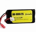 D-Power HD-1000 2S Lipo (7,4V) 30C - mit BEC Stecker Pakket