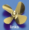 Rivabo Krick Ms-Propeller LINKS 4-Bl. 75mm, M5 nr. 545-75 Envelop