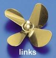 Rivabo Krick Ms-Propeller LINKS 4-Bl. 75mm, M5 nr. 545-75
