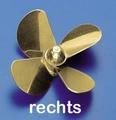 Rivabo Krick Ms-Propeller Rechts 4-Bl. 75mm, M5 nr. 545-76 Envelop