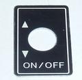 Robbe Futaba Label ALU Switch ON/OFF 1x  98-0197