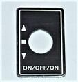 Robbe Futaba Label ALU Switch ON/OFF/ON  1x  98-0196