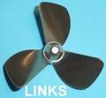 Rivabo TUNNEL-Propeller LINKS 3-Bl. 50mm, M4 nr. 534-50T Envelop