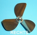 Rivabo TUNNEL-Propeller Rechts 3-Bl. 50mm, M4 nr. 534-51T Envelop