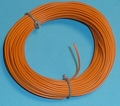 PVC Litze 1-aderig dun-soepel 0,14mm2  Orange 10M nr.51417