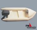 Krick ro1577 Schlauchboot mit Außenbordmotor-Atrappe 1:25