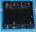 Batterijhouder D clip 4x mignon AA cellen PLAT nr. 58707