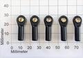 Robbe 5202  Kogelgewricht 27mm kogel 6mm M3/3mm  5 Stk Envelop