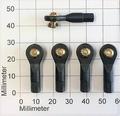 Robbe 5206  Kogelgewricht 27mm kogel+voet 6,3mm M3/3mm 5 Stk Envelop