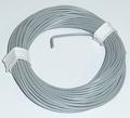 PVC Litze 1-aderig dun-soepel 0,14mm2  GRIJS 10M nr.51419 Envelop
