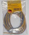 Silicone draad BLAUW-GEEL 0,75mm2  4meter nr. 55173 Envelop