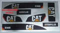 CAT 336D Sticker gelamineerd Decal Huina 1580 RC Excavator  Envelop