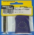Aeronaut Vlag Stof EU europe 20x30mm 10 stuks Nr. 7985-21 Envelop