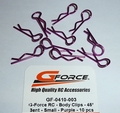 GF-0410-003- Body Clips - 45° Bent - Small - Purple - 10 pcs Envelop