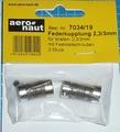 Aandrijf koppeling met veer-as 2,3/3mm VE2 stuks  7034/19 Envelop