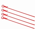 RCP-11035 BODY CLIPS 1:8 LANG 115mm GROTE OGEN, ROOD 4 st Envelop