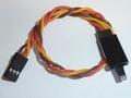 Servo verlengkabel 10cm JR-UNI 3x0,32mm2 Gedrilt 46123 Envelop