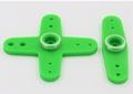 Futaba 56005101 servohevel dubbel en kruis 44mm 2st Groen Envelop