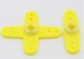 Futaba 56005101 servohevel dubbel en kruis 44mm 2st Geel Envelop
